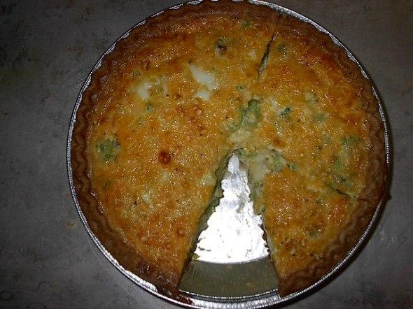 broccoli - cheese quiche