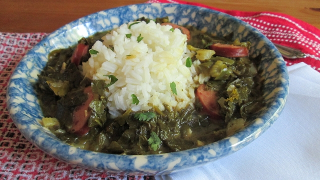green gumbo with andouille sausage and bacon green gumbo with smoked ...