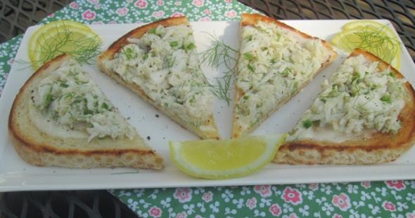 Crab Toast with Lemon Aioli 2