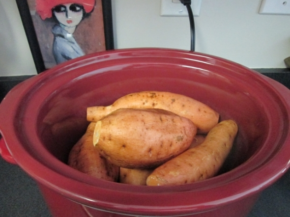 Crockpot Baked Sweet Potatoes