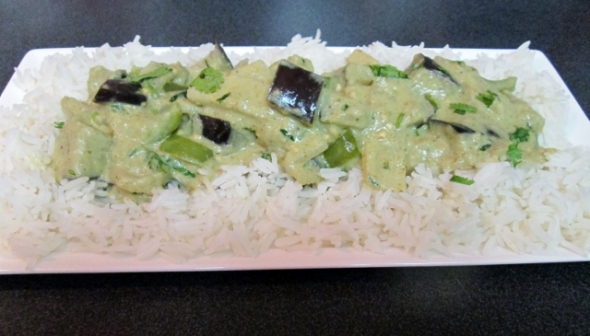 Thai Green Curry with Eggplant 2