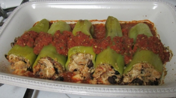 Cubanelle Peppers Stuffed with Chicken and Quinoa 2