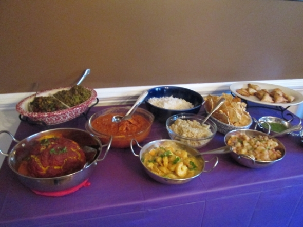 Indian Thanksgiving Meal