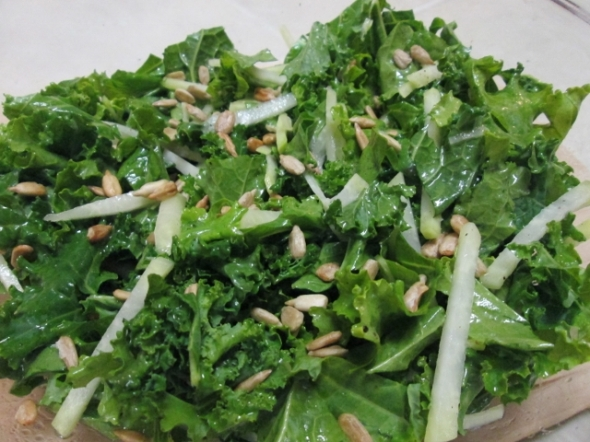 Kale and Kohlrabi Salad