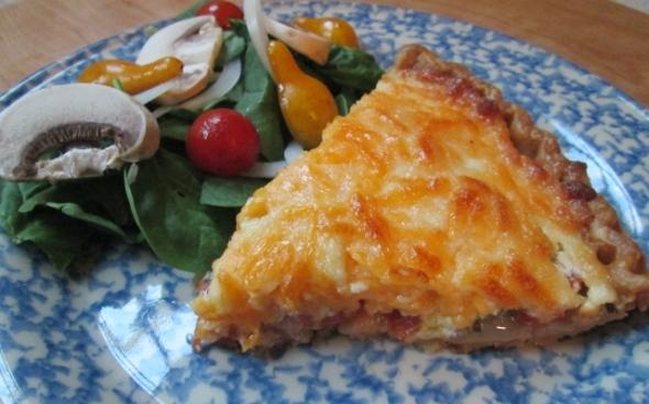 Tomato Pie - Slice