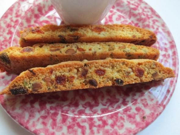 Apricot and Pistachio Biscotti