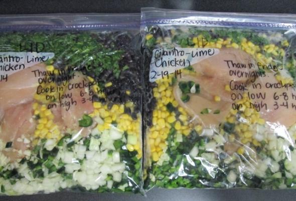 Southwest Chicken Crockpot Freezer Meal (LID)