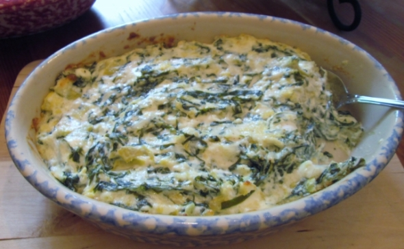 Hot Collards and Artichoke Dip