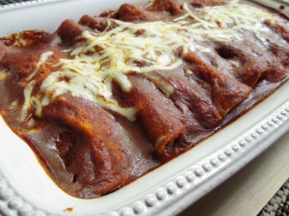 Mixed Greens Enchiladas