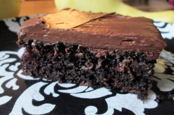 Chocolate Yellow Squash Cake 2
