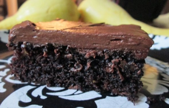 Chocolate Yellow Squash Cake 3