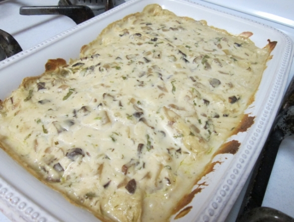 Creamy Mushroom and Spinach Enchiladas