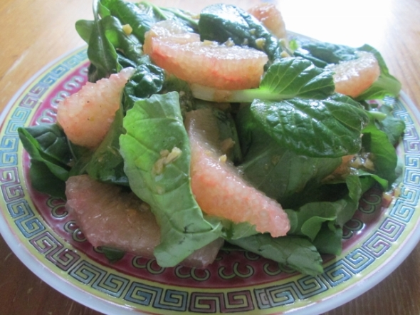 Arugula and Tatsoi Salad with Grapefruit 2 (640x480)