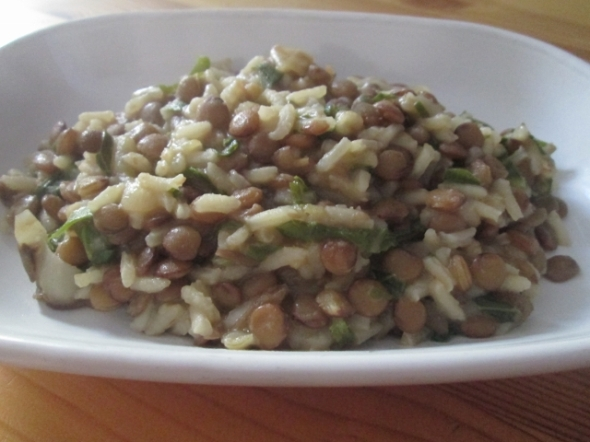 Mujadara with Greens