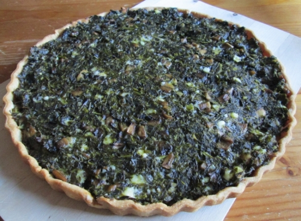 Collard Greens Tart