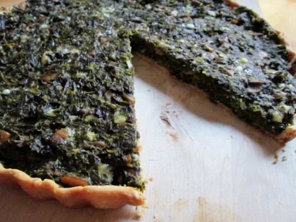 Collard Greens Tart Sliced80)