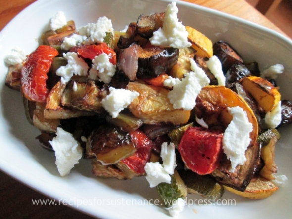 Roasted Ratatouille with Goat Cheese
