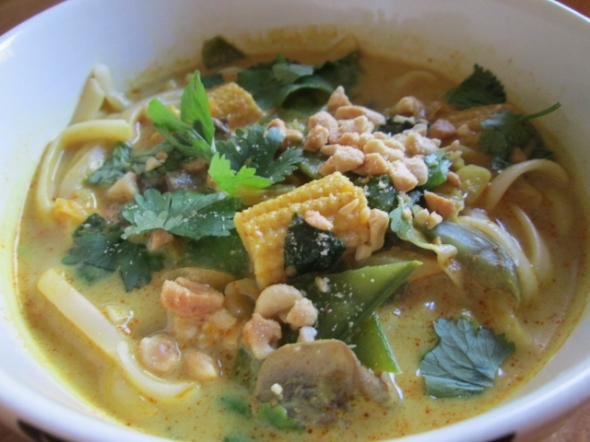 Vegetarian Chiang Mai Curry Noodle Soup 2