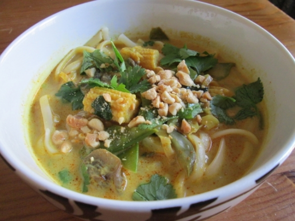 Vegetarian Chiang Mai Curry Noodle Soup