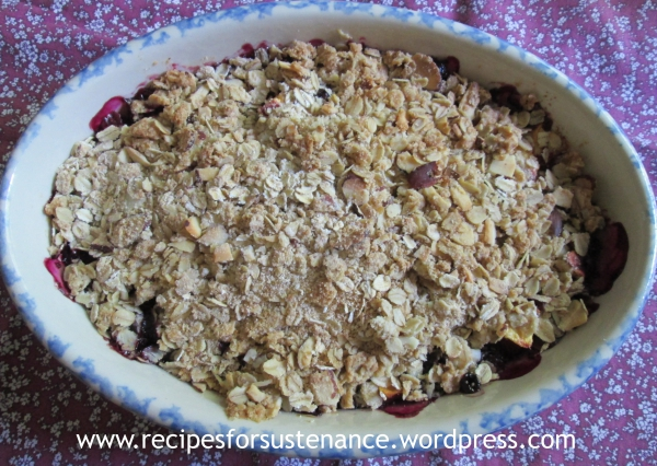 apricot and blueberry crumble recipe dishmaps apricot and blueberry ...