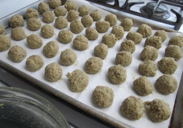 Uncooked Eggplant Meatballs