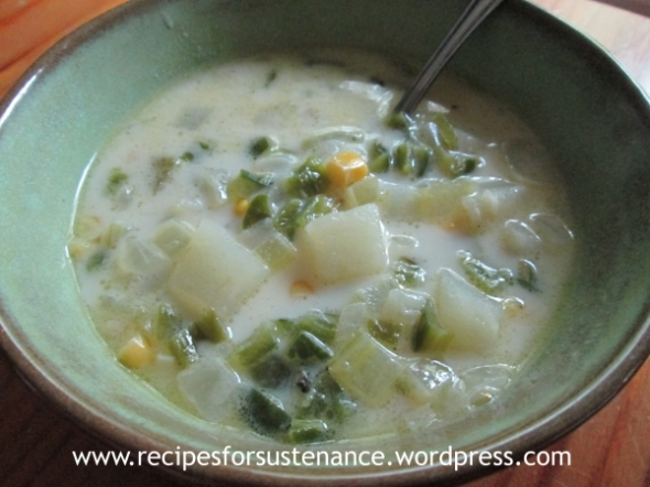 Poblano and Corn Chowder