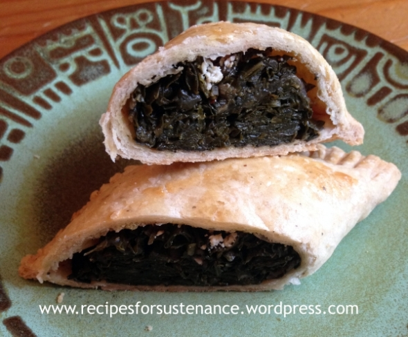 Collards and Goat Cheese Hand Pies