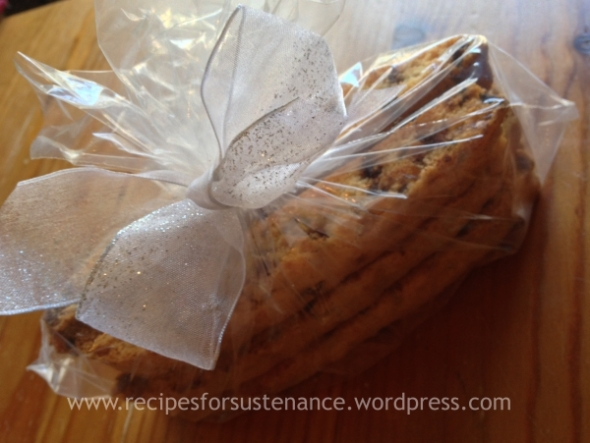 Chocolate Chip and Toffee Brickle Biscotti (gift)