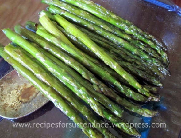 Asparagus with Balsamic Butter Sauce 2