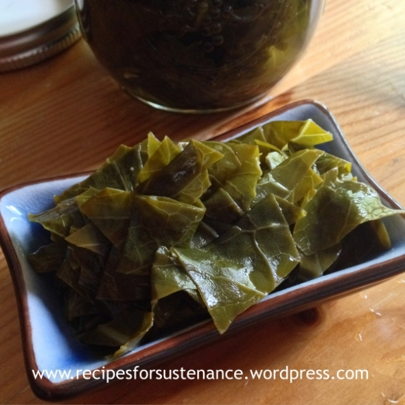 Pickled Collard Greens