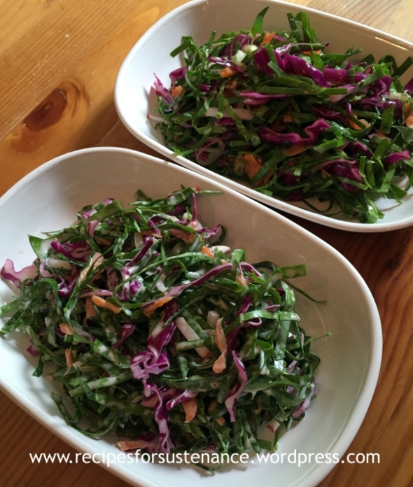 Collard Greens Slaw 2 Ways