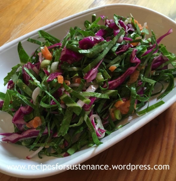 Vinegar Based Collard Greens Slaw
