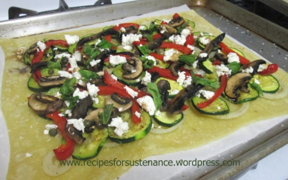 Summer Vegetable Tart (before baking)