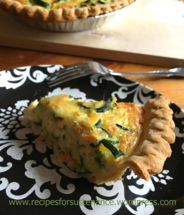 Slice of Savory Zucchini Pie
